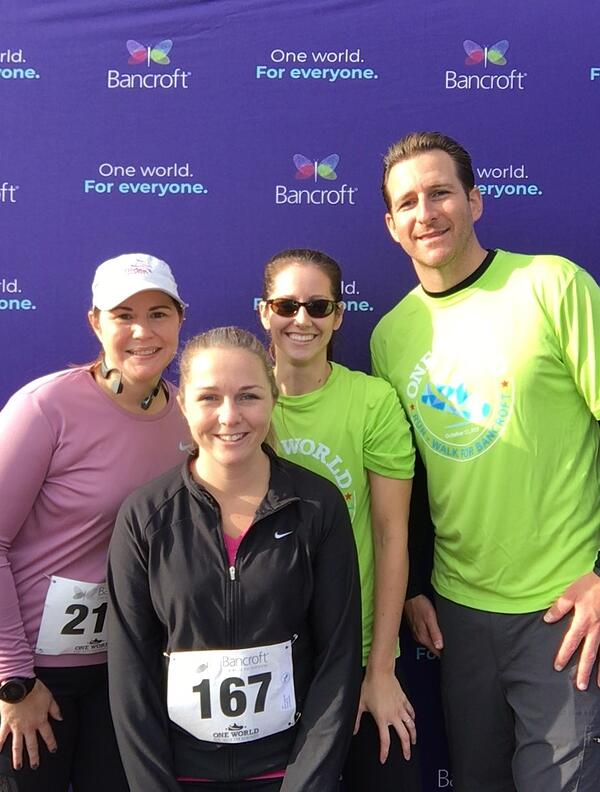 Bowman & Company LLP Bancroft second annual One World Run