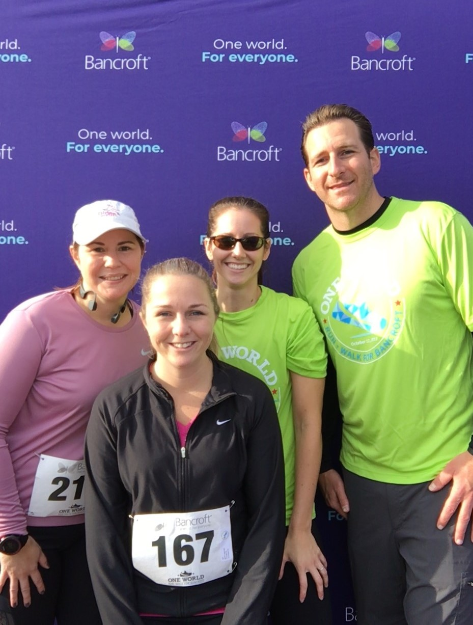 Bowman at Bancroft's One World Run