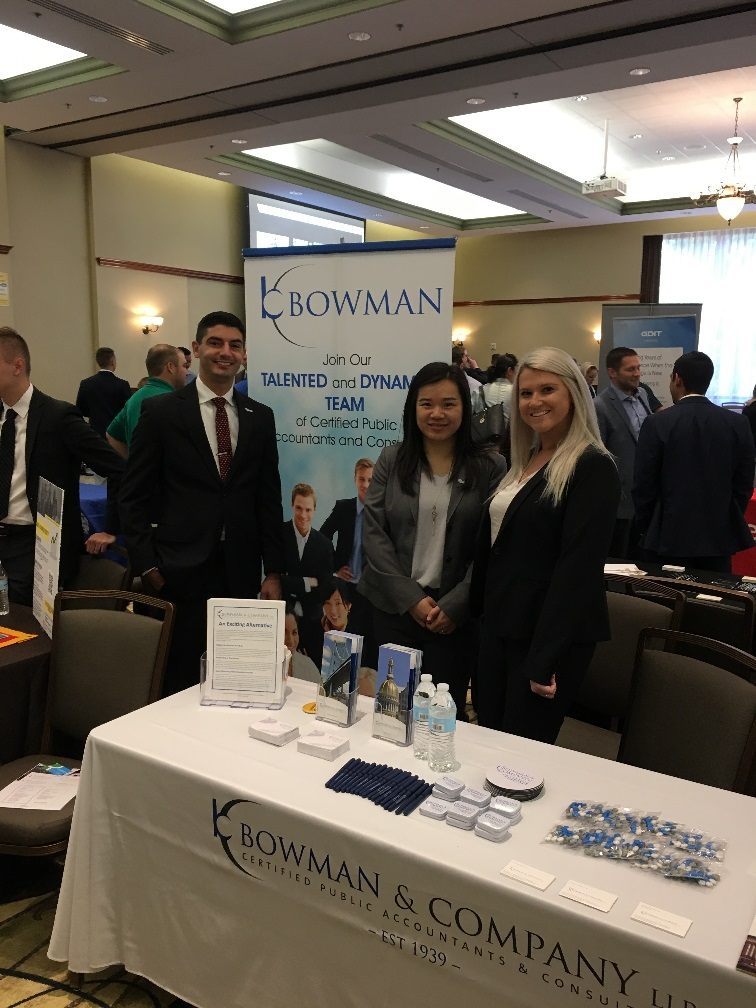 Bowman At Rowan University's Career Day