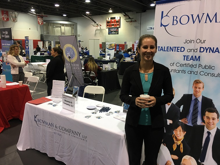 Bowman at the Rutgers University Fall Career Fair